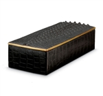L'Objet Crocodile Rectangular Desk Box