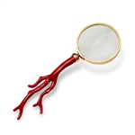 L'Objet Library Coral Magnifying Glass