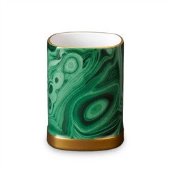 L'Objet Library Malachite Pencil Cup