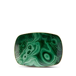 L'Objet Library Malachite Small Rectangular Tray