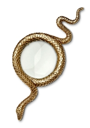 L'Objet Library Snake Gold Magnifying Glass