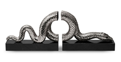 L'Objet Library Snake Platinum Bookend Set