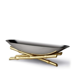 L'objet Stainless Steel Boat on 24K Gold Plated Bambou