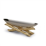 L'objet Small Stainless Steel Boat on 24K Gold Plated Bambou