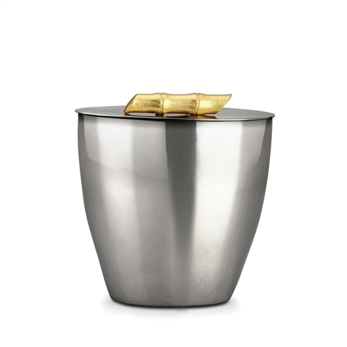 L'objet Bambou Ice Bucket 24K Gold Plate Handle
