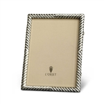 L'Objet Deco Twist Photo Frame Platinum 5x7