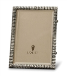 L'Objet Platinum Scales Photo Frame 4x6