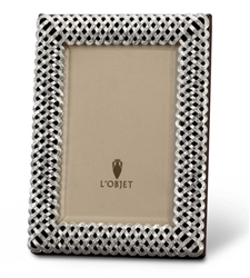 L'Objet Platinum Braid Photo Frame 8x10