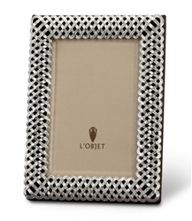 L'Objet Platinum Braid Photo Frame 5x7