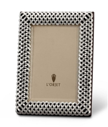 L'Objet Platinum Braid Photo Frame 4x6