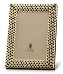 L'objet Gold Plated Braid Photo Frame 8x10