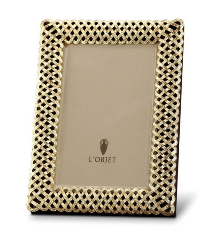 L'objet Gold Plated Braid Photo Frame 4X6