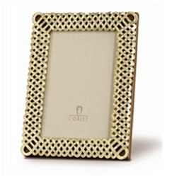 L'objet Gold Plated Braid Photo Frame 2x3