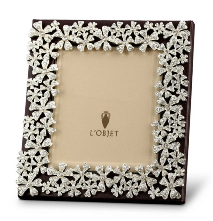 L\'Objet Platinum Braid Photo Frame 8x10