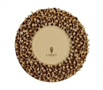 L'Objet Lorel Gold Plated & Suede backed Frame Round