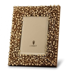 L'Objet Lorel Gold Plated & Suede Backed Photo Frame 4x6