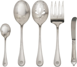 Juliska Berry and Thread Flatware 5pc Hostess Set Bright Satin