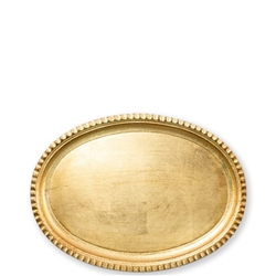 Florentine Wooden Acces Gold Small Oval Tray
