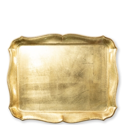 Florentine Wooden Accessories Gold Rect Tray