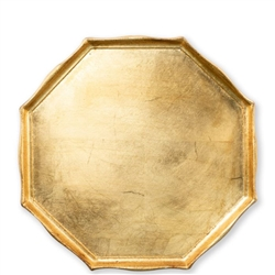 Florentine Wooden Accessories Gold Oct Tray