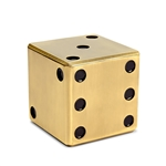 L'Objet Games - Dice Decorative Box - Gold
