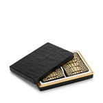 L'Objet Games Crocodile Box with Playing Cards - Two Decks