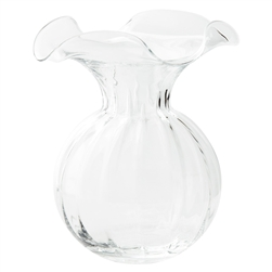 Hibiscus Glass Large Fluted Vase - HBS-8583