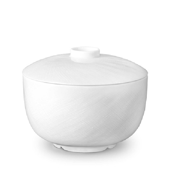 L'Objet Han White Rice Bowl with Lid