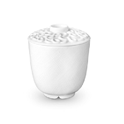 L'Objet Han White Green Tea Cup with Lid