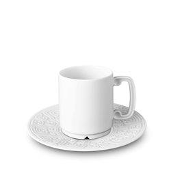L'Objet Han White Espresso Cup and Saucer