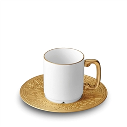 L'Objet Han Gold Espresso Cup and Saucer