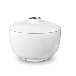 L'Objet Han Platinum Rice Bowl with Lid