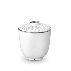 L'Objet Han Platinum Green Tea Cup with Lid