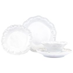 Vietri Incanto Lace Four-Piece Place Setting