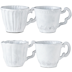 Vietri Incanto Assorted Mugs Set of 4