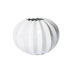 Vietri Incanto Pleated Round Vase