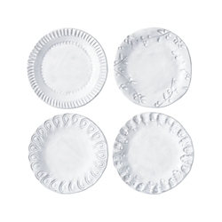Vietri Incanto Assorted Canape Plates Set of 4