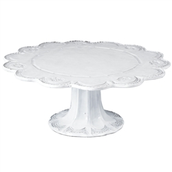 Vietri Incanto Lace Large Cake Stand