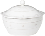Juliska Berry and Thread Large Covered Casserole Whitewash