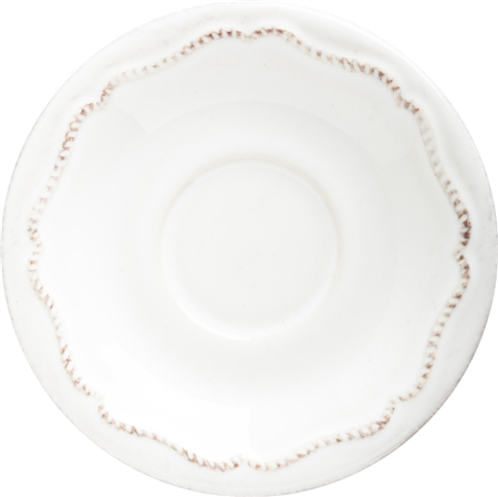 Juliska Berry and Thread Demitasse Saucer Whitewash
