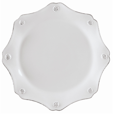 Juliska Berry and Thread Scallop Dessert Plate Whitewash