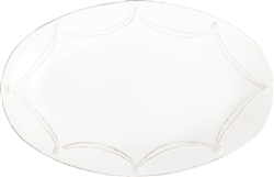 Juliska Berry and Thread Large Oval Platter Whitewash