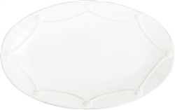Juliska Berry and Thread Medium Oval Platter Whitewash