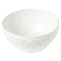 Juliska Le Panier Whitewash Cereal-Ice Cream Bowl