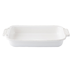 Juliska Le Panier Whitewash Rectangular Baker