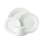 Juliska Le Panier Whitewash 5pc Dinnerware Setting