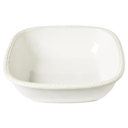 Juliska Le Panier Whitewash 11in. Square Serving Bowl