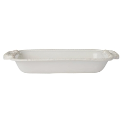 "Juliska Le Panier Whitewash 13"" Shallow Baker"