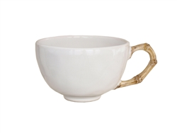 Juliska Classic Bamboo Ceramic Stoneware Tea-Coffee Cup Natural