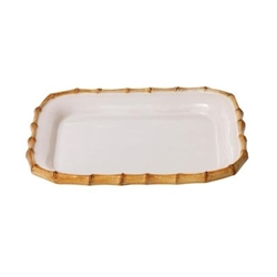 "Juliska Classic Bamboo Small Rectangular 12"" Platter"
